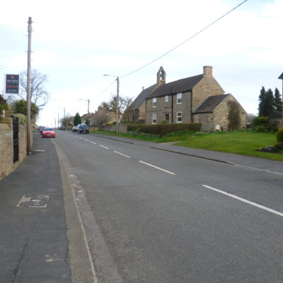 Centre Of Village looking eastwards towards the church