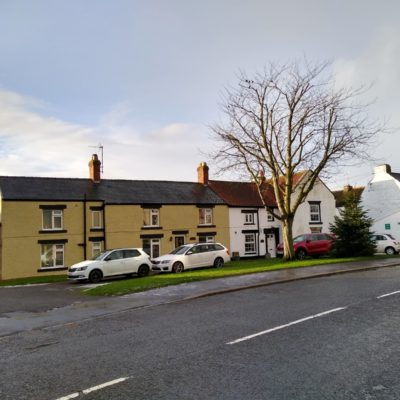 Ingleton Front Street South Side With Cottages And The Old Post Office To The Right