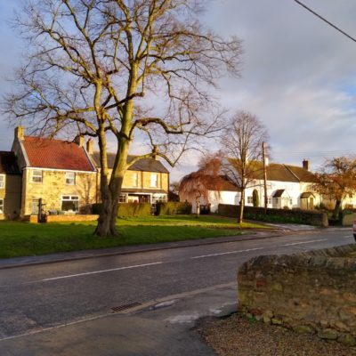 Ingleton Front Street Looking North And East From The Village Hall Entance Road By The Church