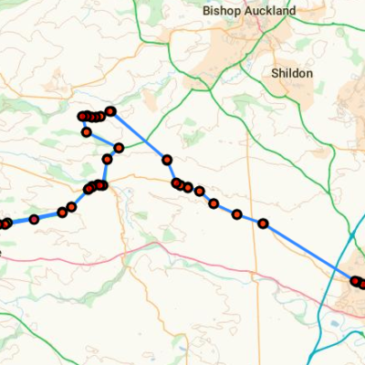 Map Of The 84 Bus Route