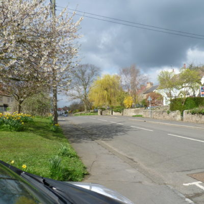 View along the village looking west from the Rayson Court entrance