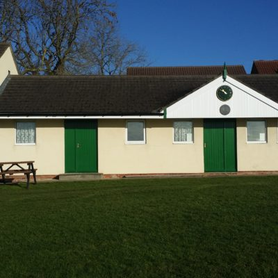 South Facing Or Front View Of The Cricket Pavilion