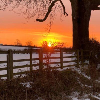Sunrise And Snow
