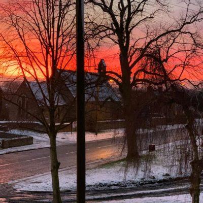 Sunset Behind The Ingleton Church