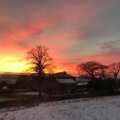 Sunset Over The Ingleton Vicarage