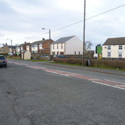 West end of the village - northern side